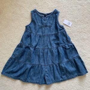 NWT Gap Denim Culottes Dress Toddler Size 3